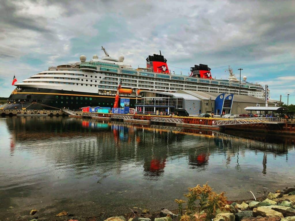 Disney Magic at port in Sydney Nova Scotia