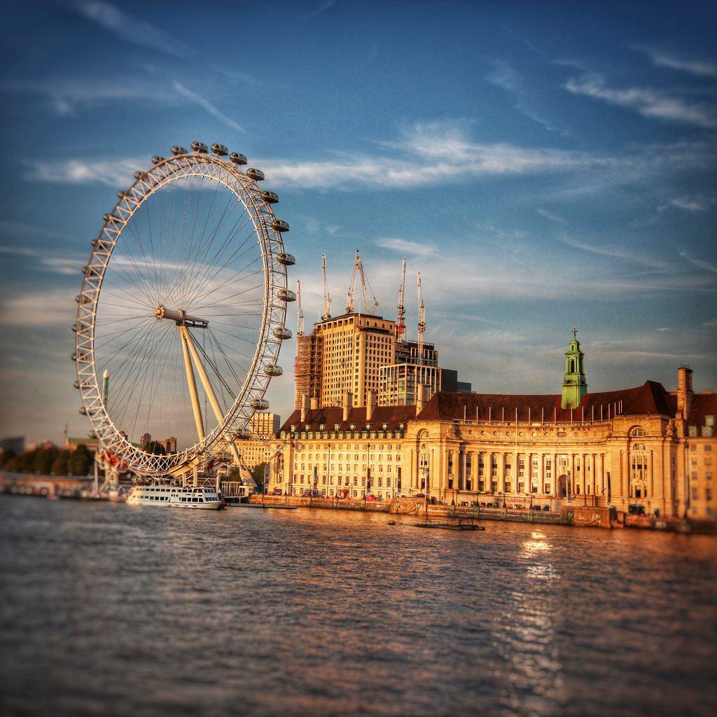 London Eye on the Thames