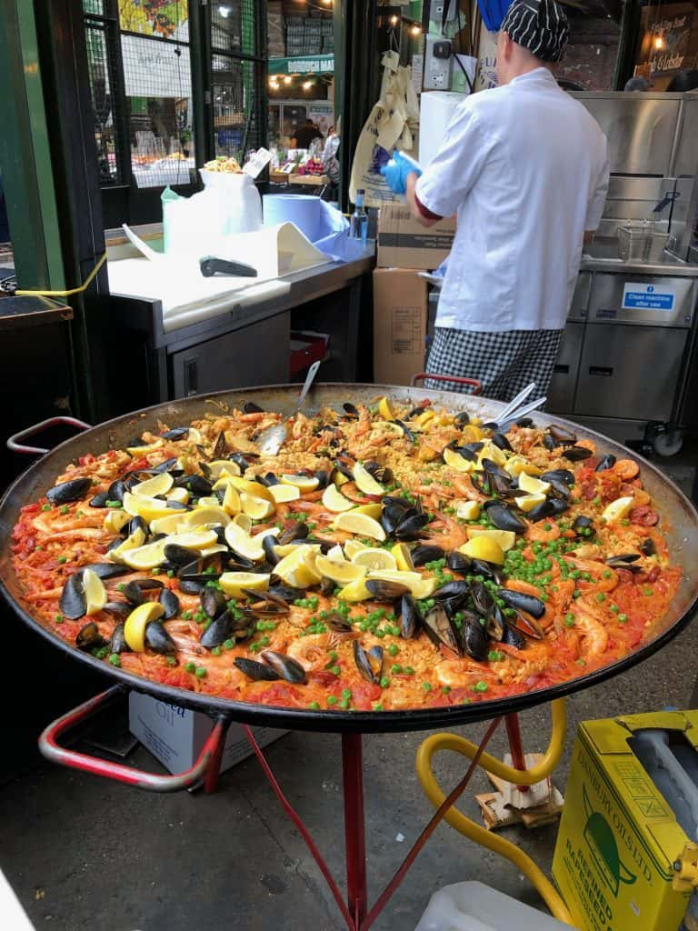 Paella at the Borough Market