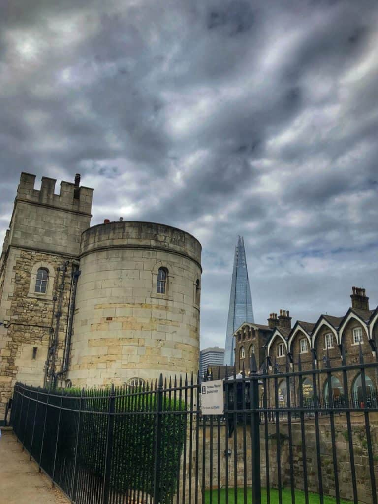 View of the Shard from the Tower of London
