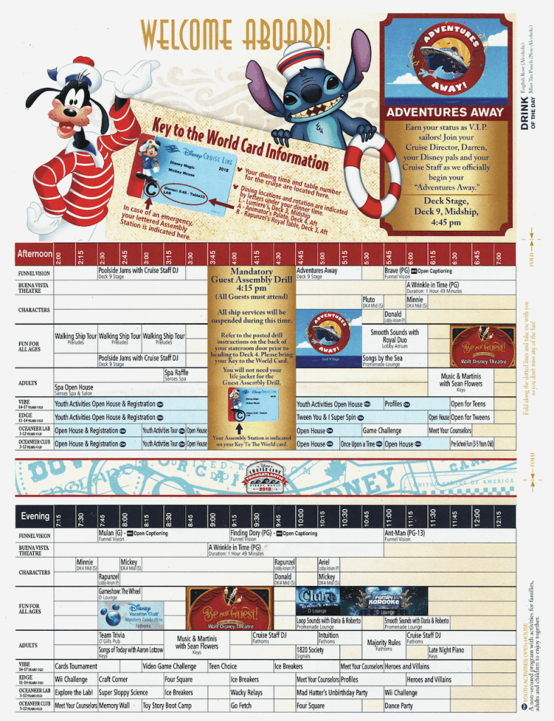 WBTA Disney Magic September 9, 2018 Navigator page one Transatlantic Cruise