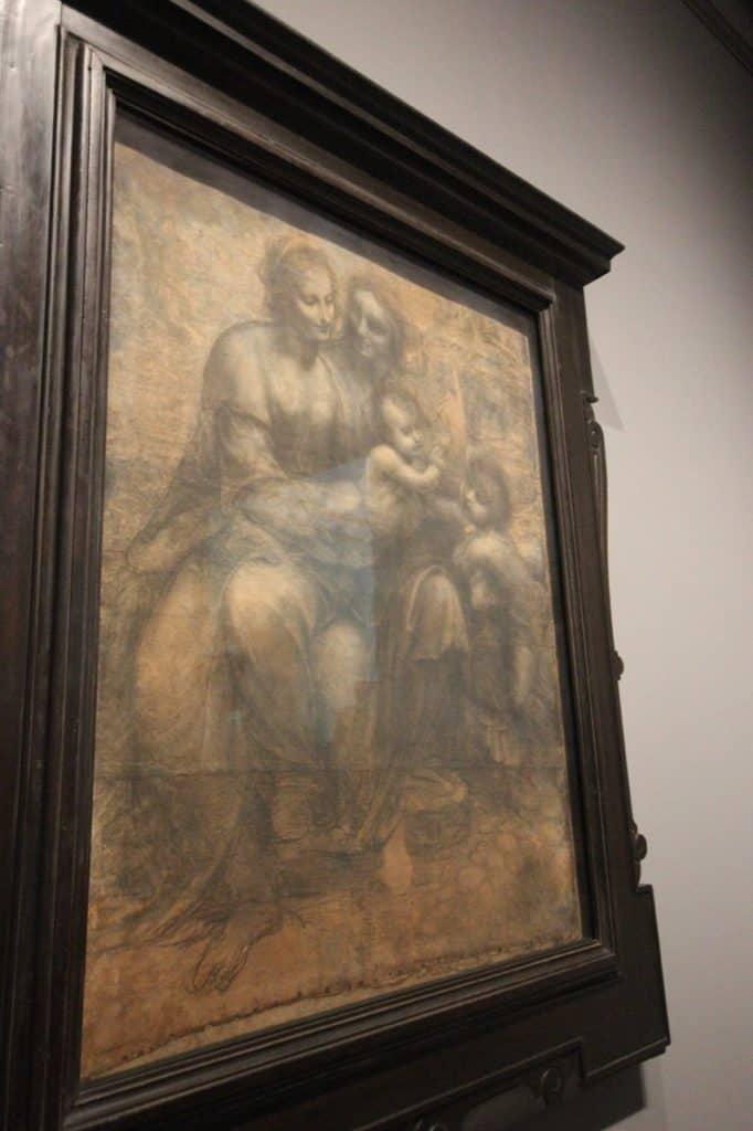 The Burlington House Cartoon about 1499-1500, Leonardo da Vinci art