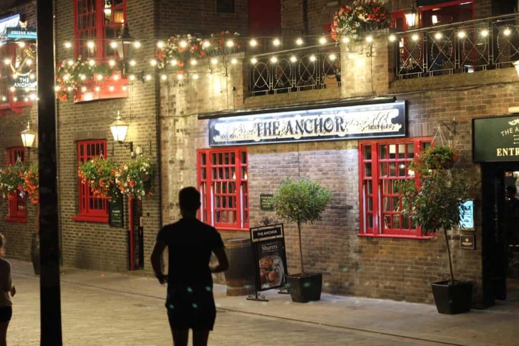 Anchor Pub beside Premier Inn Bankside London
