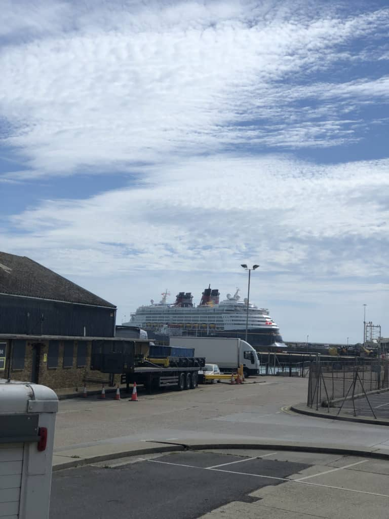 Our first view of the Disney Magic