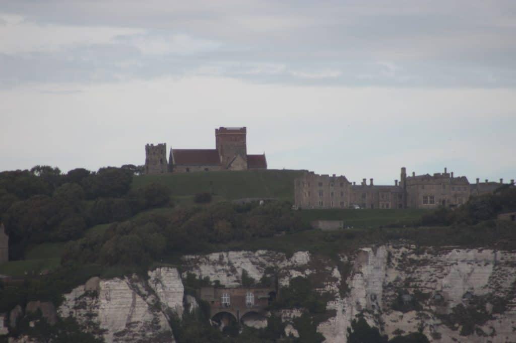 Dover Castle from the Disney Magic Transatlantic Cruise