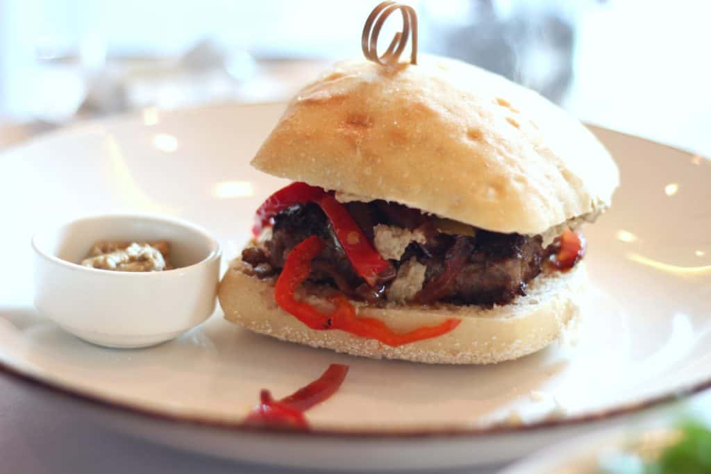 Lamb Kofta Burger Main Dining Lunch Menu Transatlantic Cruise Disney Magic