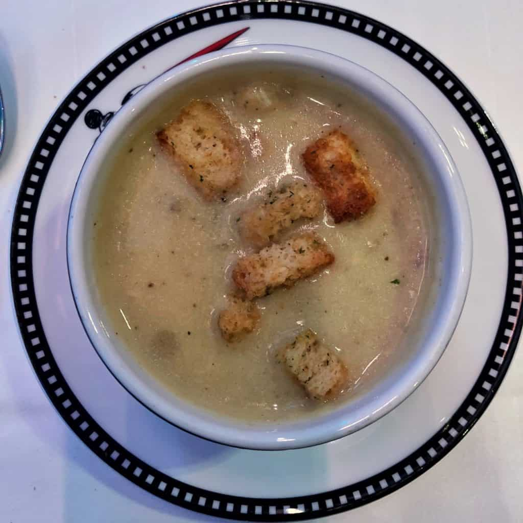 Clam Chowder from the Let the Magic Begin Menu Disney Magic Transatlantic cruise