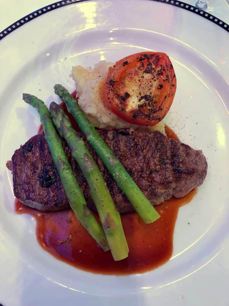 Grilled Strip Loin from the Let the Magic Begin Menu Disney Magic Transatlantic cruise
