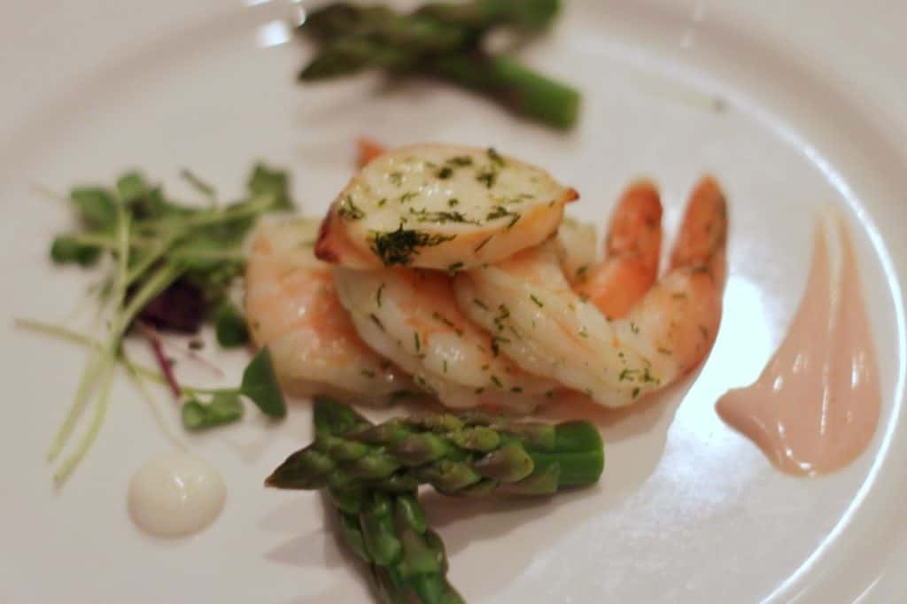 Iced Lobster and Jumbo Shrimp at Lumieres on the Disney Magic Westbound Transatlantic cruise