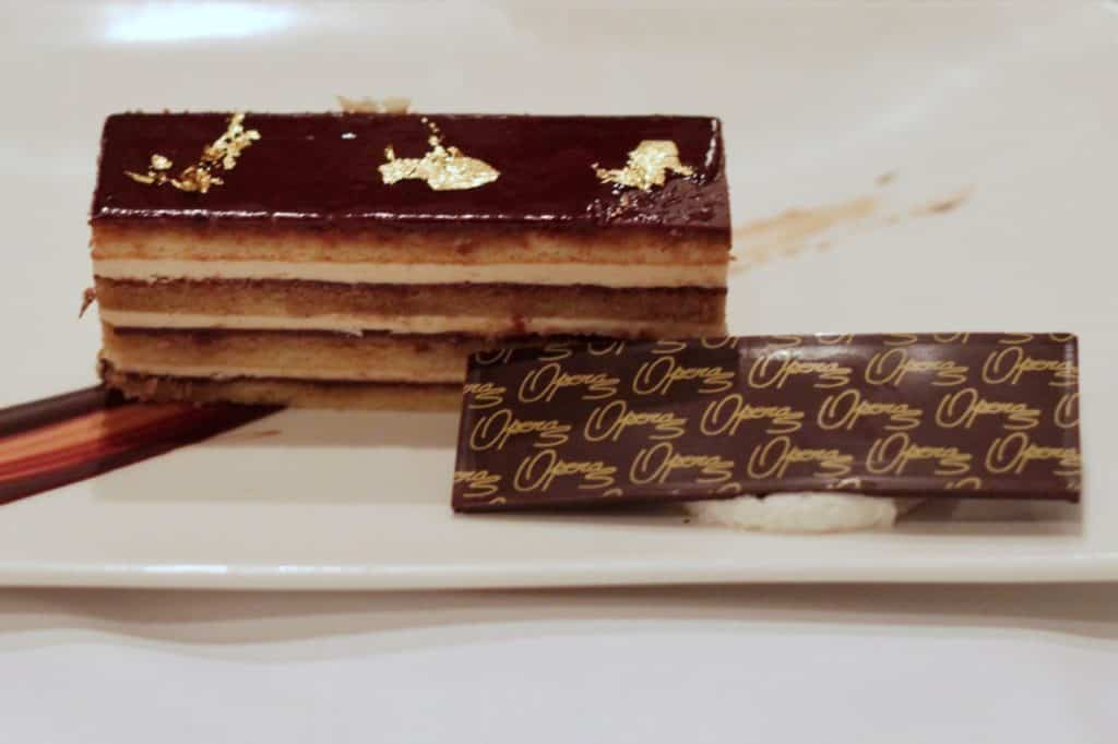 Classic Opera Gâteau at Lumieres on the Disney Magic Westbound Transatlantic cruise