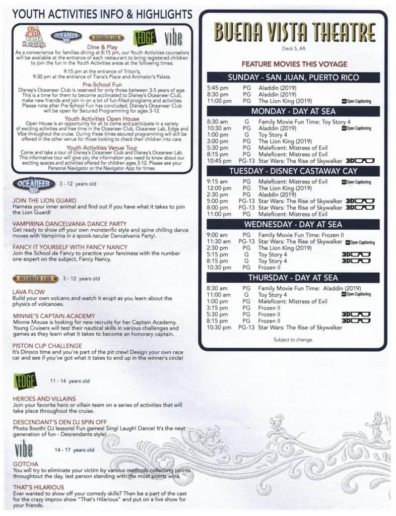 3rd Page February 2, 2020 Navigator Disney Wonder San Juan to New Orleans