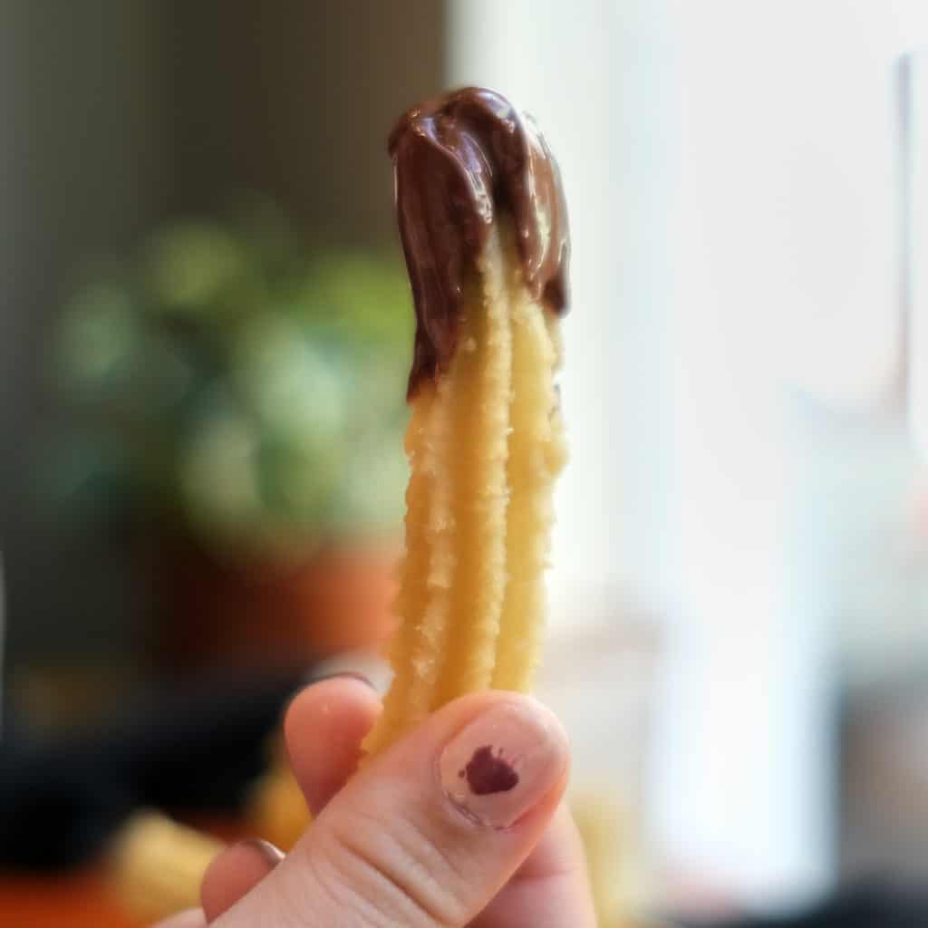 Churros with Chocolate Sauce from Chocobar