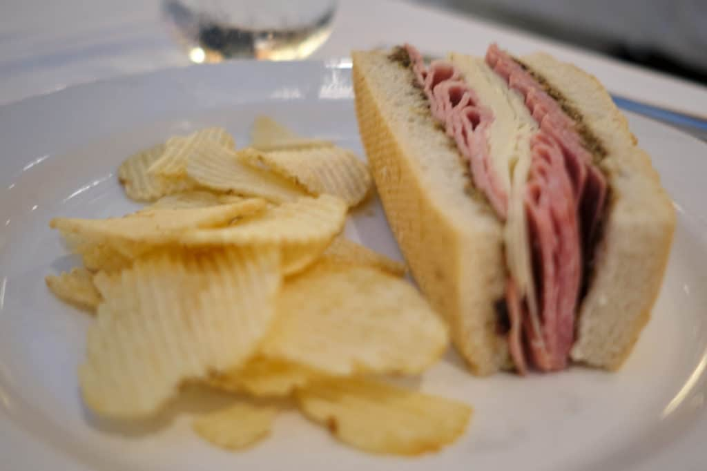 Muffuletta Sandwich at Triton's Disney Wonder Lunch