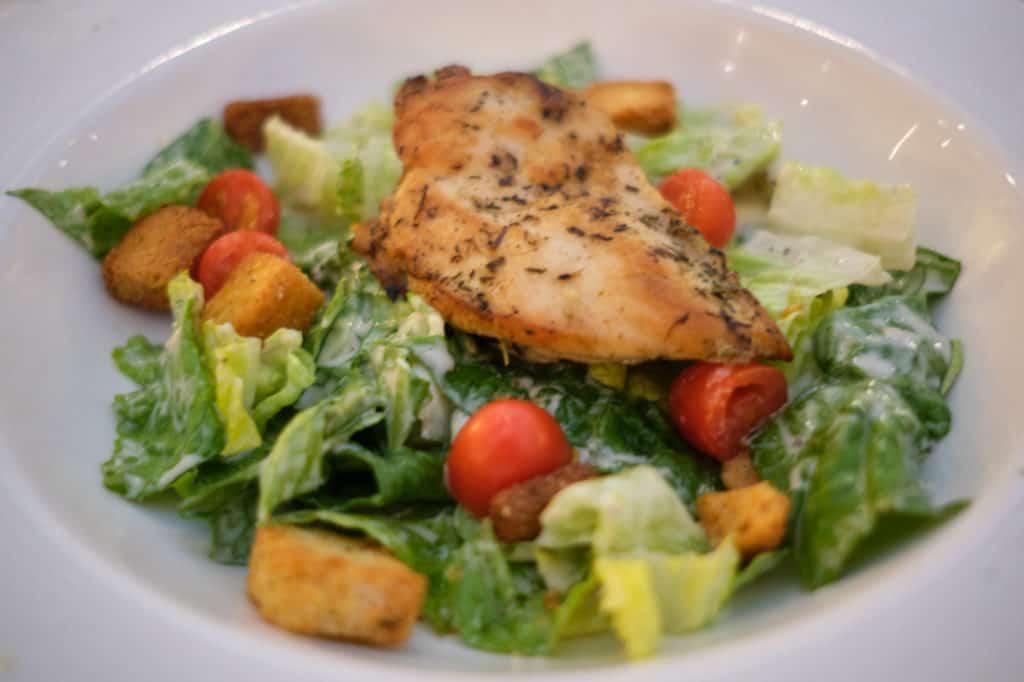 Chicken Caesar Salad at Triton's Disney Wonder Lunch