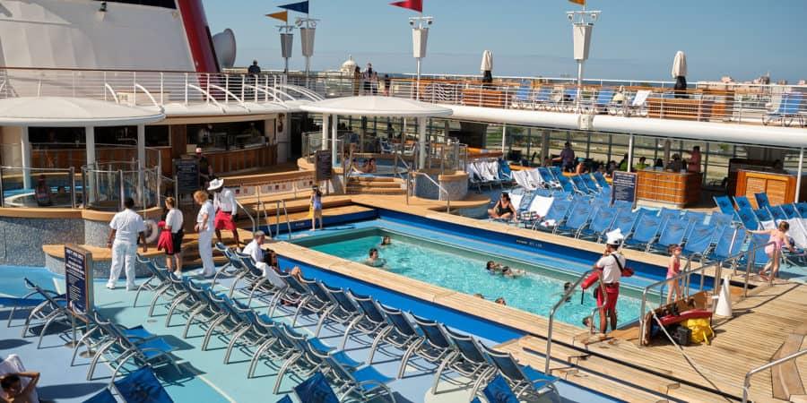 Pool Deck Disney Wonder San Juan to New Orleans