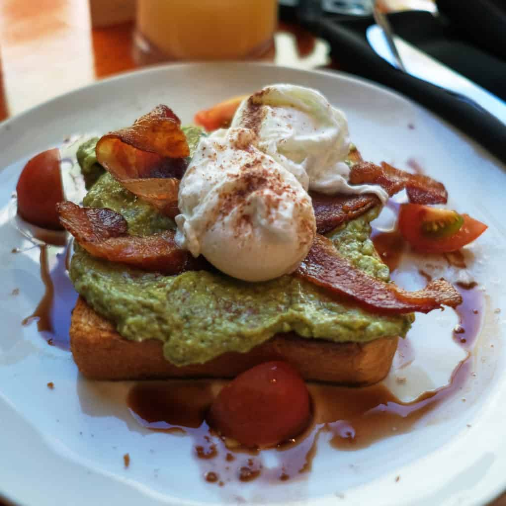 Avocado Toast lunch after the beach