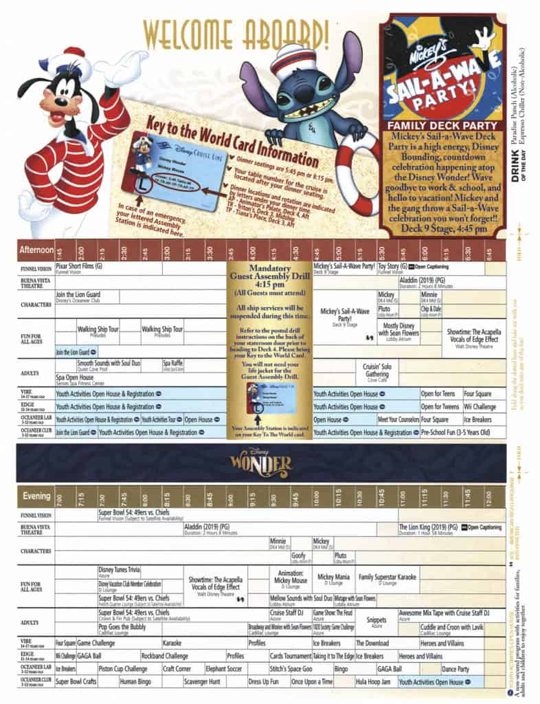Insert Page 1 February 2, 2020 Navigator Disney Wonder San Juan to New Orleans