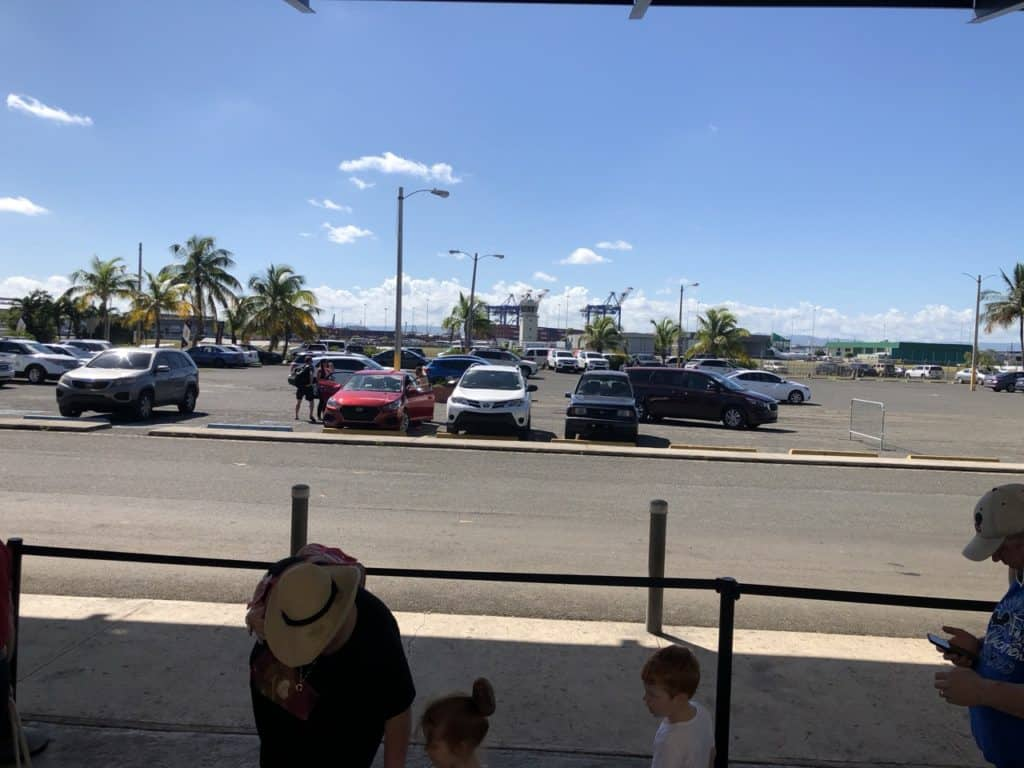 Parking Area at the Port of San Juan Disney Wonder to New Orleans