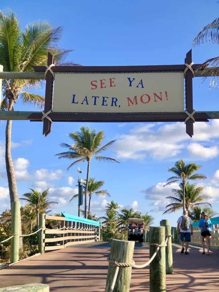 See Ya Later, Mon Castaway Cay Disney Cruise Line