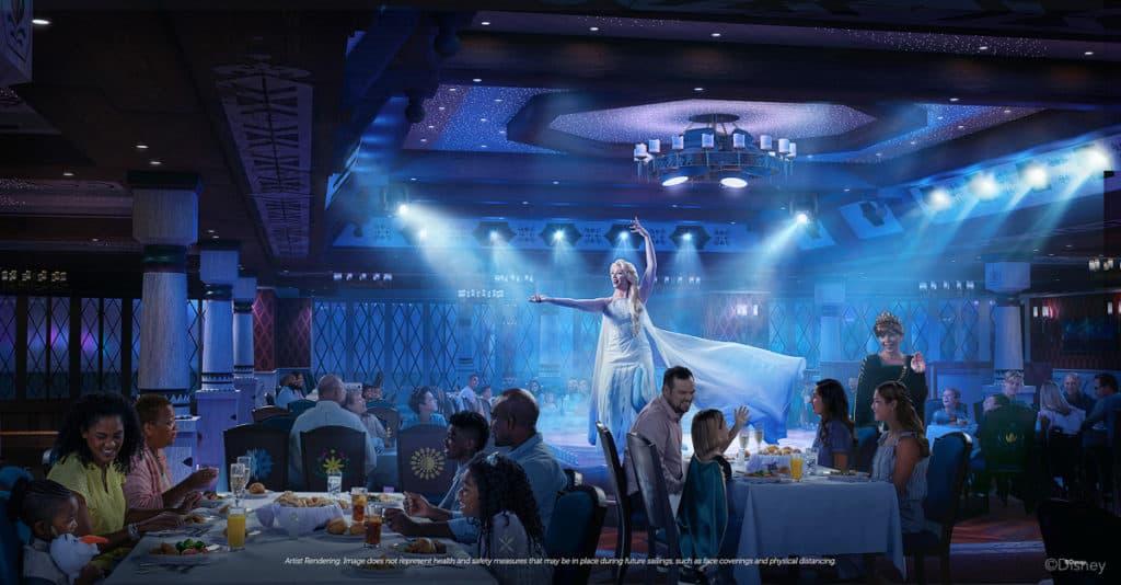 Disney Wish - Family Dining - Arendelle A Frozen Dining Adventur
