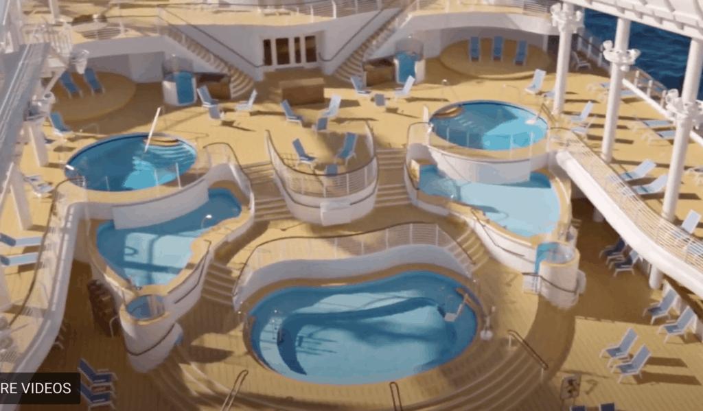 Pool deck Disney Wish